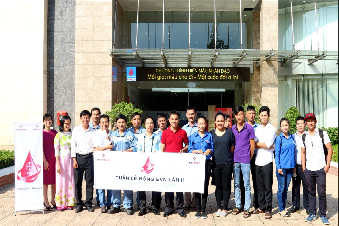 Phu My Thermal Power Company: Humanitarian blood donation, meaningful gift to the community